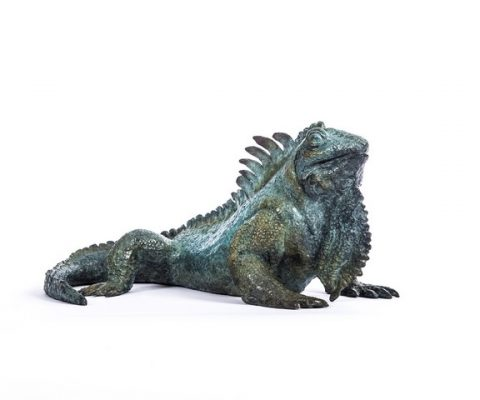 Sophie BONNECAZE LABORDE Sculpture iguane sculpteur animalier