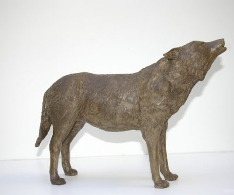 Sophie BONNECAZE LABORDE Sculpture loup sculpteur animalier